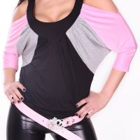 Bluser / T-shirts - Bat-top with V-neck (Pink)