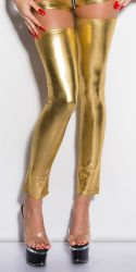 Dancewear - Thigh High Leg Warmers (Wetlook Guld)