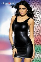 Lingeri kjoler - Metallic lycra dress - erotic back (OB1264)