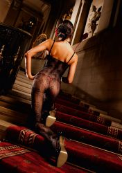 Bodystocking - Blomster Lace