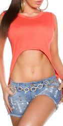 Toppe - High-low Crop Top